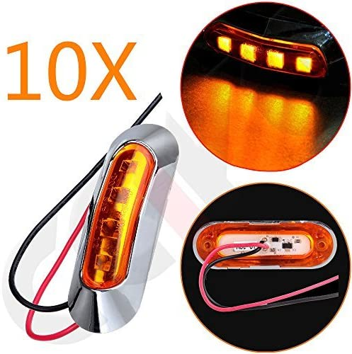 cciyu Side Marker Light Universal 10x Bul 4LED Inventory price cleanup selling sale Amber