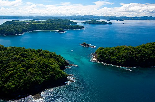 Posterazzi Island in Pacific Ocean Four Season Resort Bay Gulf of Papagayo Guanacaste Costa Rica Poster Print, (12 x 36)