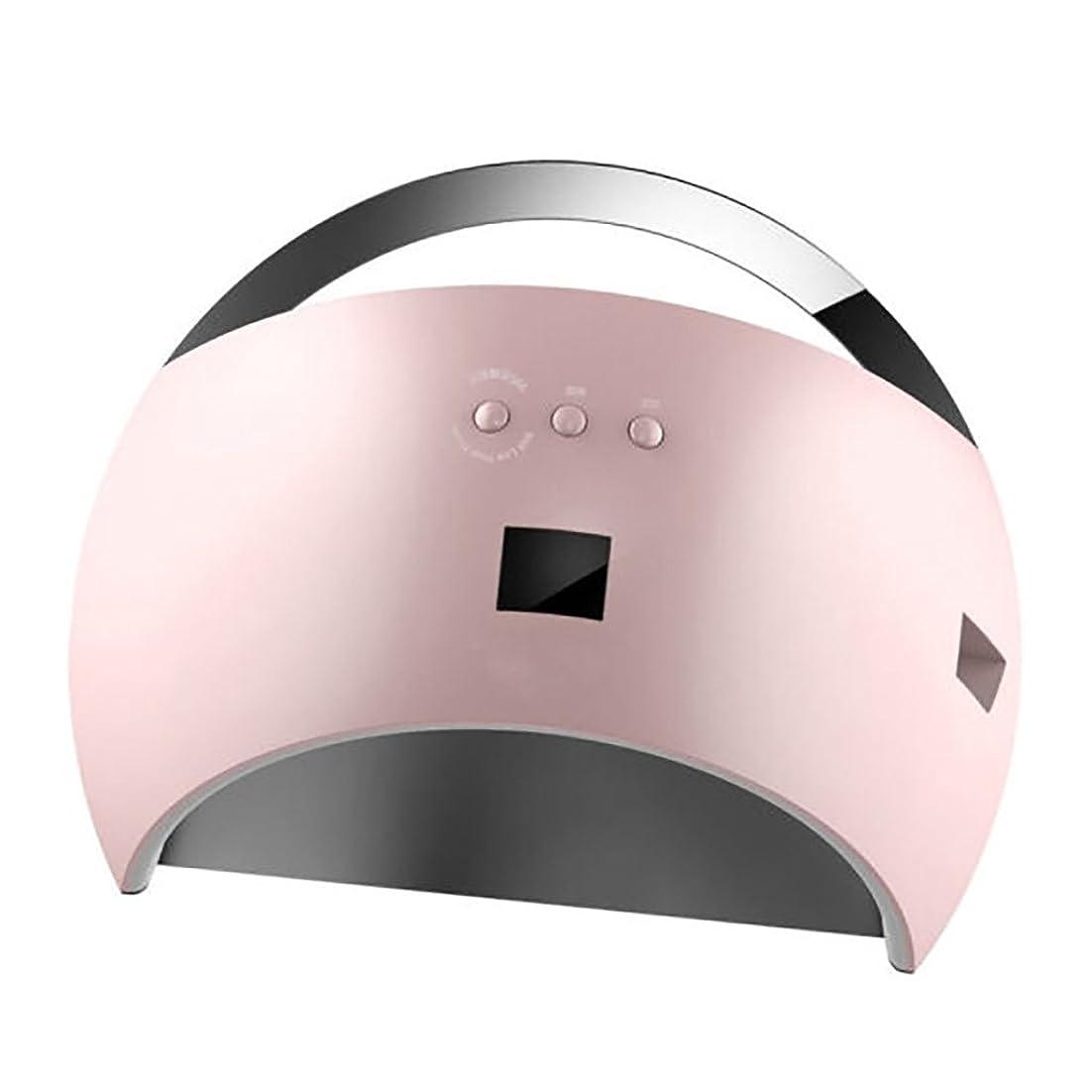 暴力鼓舞するオーロックネイル光線療法機 ネイルドライヤー - ネイルランプLEDスマートセンサーネイル光線療法機ドライヤー高速焼成プラスチックネイルショップ専用 (色 : Pink)