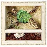 REPITERRA Terrarium für Reptilien & Amphibien, Holzterrarium mit Seitenbelüftung 40x40x40cm
