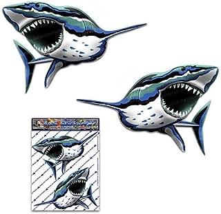双子鮫魚魚海水小さなデカールステッカーパック車トラックパックキャラバン-ST00059_SML-JASステッカー