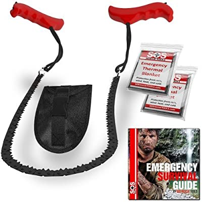 Pocket Chain Saw & Fire Starter - Saw For Camping and Survival Gear. Includes Fire Starter and Digital Survival Guide by SOS Rescue Tools from SOS Rescue Tools