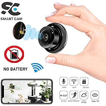 SmartCam Mini Full HD 1080P Camera Professional Wireless WiFi Home IP/AP Camera Camcorder Monitor Night Vision Secret Security cam (Not Battery Operated)