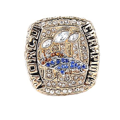 Super Bowl 2015 Denver Broncos Championship Ring Anillos de Hombre, Championship Anillo de réplica Personalizado Anillos de Diamantes para Hombres,with Box,11