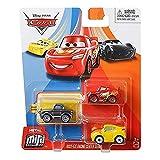 Cars Mini-vehículo, Coche Miniatura Disney Pixar, Juguete para niños (Pixar Mini Racers Metal 3X GKG06)