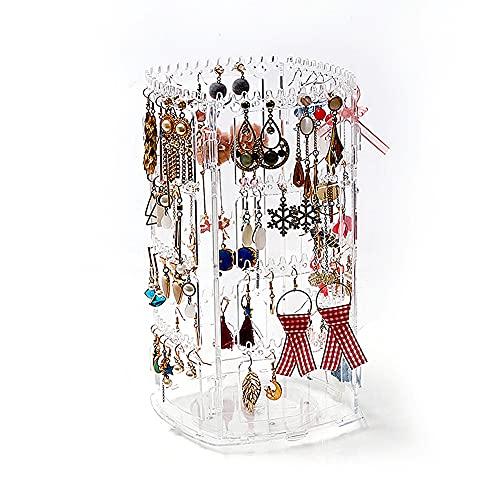 TSLBW Organizador de Pendientes Expositor Pendientes Plegable 4 Pisos Transparente Soporte Jewelry Organizer Expositor de Pendientes y Collares Pulseras Soporte de Joyas Regalo para Mujer