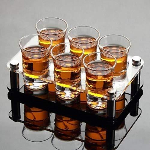 QWER Juego de Vasos de chupito de Bebidas espirituosas Copa de Vino Copa de Balas de Barra para el hogar, A 6 Tazas (40ML)