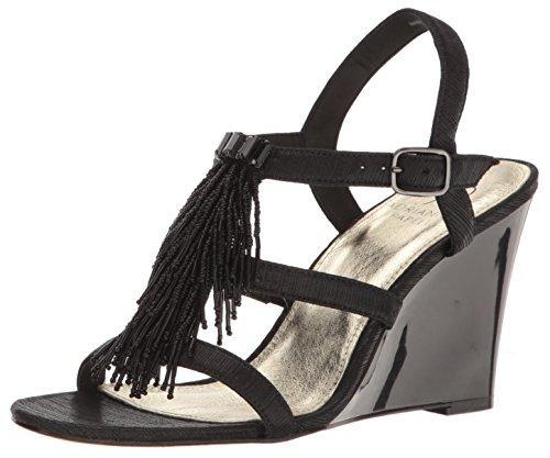 Adrianna Papell Women's Adair Wedge Sandal, Black, 7.5 US/7.5 M US
