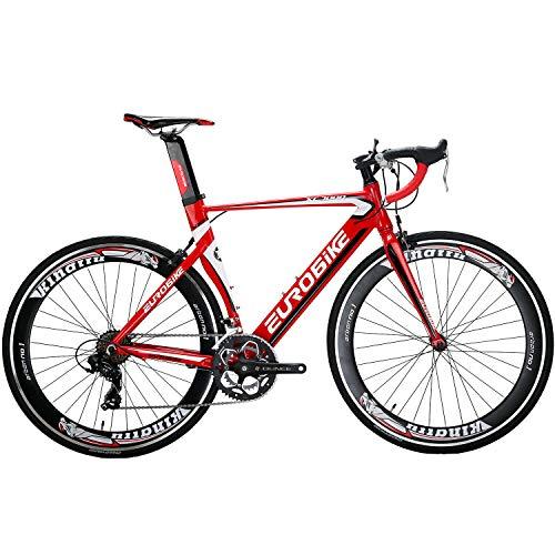 700C Road Bike Aluminum Frame 54cm for Men and Women Lightweight 14 Speed (red)