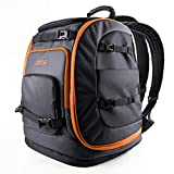 OutdoorMaster Boot Bag, 65L Waterproof Ski Snowboard Boots Air Cushion Shoulder Pad Skiing Gear Bag Travel Backpack for Ski Helmets, Goggles&Accessories Men&Women-Orange