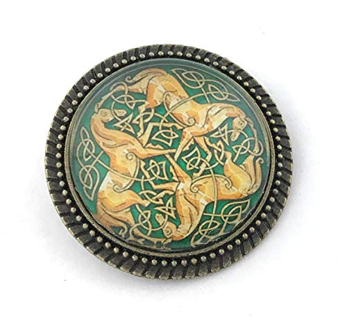 Celtic Horse Pin - Handmade Brooch