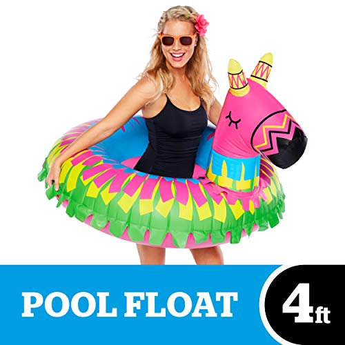 BigMouth Inc. Donkey Party Pinata Pool Float – Hilarious Pool Float Measuring Over 4ft Wide, Patch Kit Included – Funny Inflatable Vinyl Summer Pool or Beach Toy, Makes a Great Gift