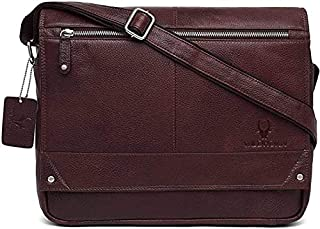 Wildhorn Genuine Leather Messenger Bag, Stylish 15 Inches Laptop Bag with Storage and Padded Compartments