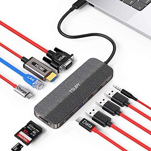 Hub Usb C Ethernet Vga Marca TSUPY