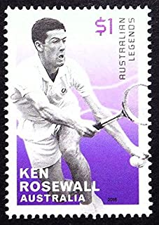 Ken Rosewall, Australian Legends, Tennis -Handmade Framed Postage Stamp Art 21827AM