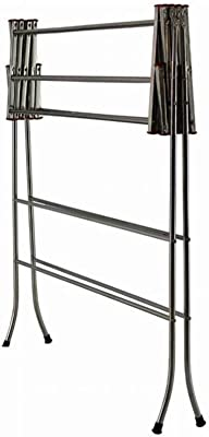 PARASNATH Stainless Steel Clothes Drying Stand with Orange Caps (Multicolour)