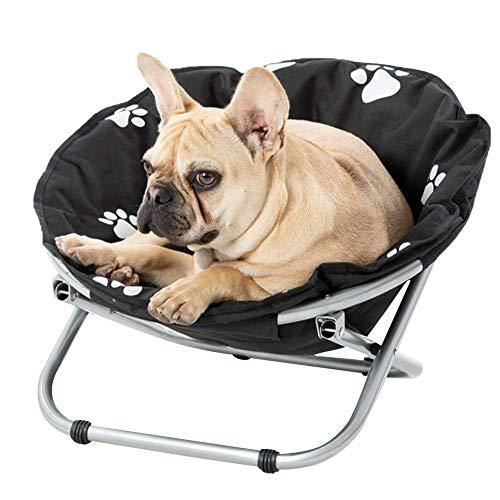 LSONE Cama elevada portátil para mascotas, cama grande plegable elevada, silla para perros y gatos para uso en interiores o exteriores.