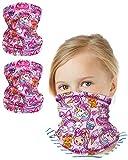 Nickelodeon Girls Jojo Siwa Gaiter Face Mask with UV Sun Protection (2 Pack), Size 4-14, Jojo Siwa
