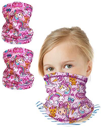 'Nickelodeon Girls Jojo Siwa Gaiter Face Mask with UV Sun Protection (2 Pack), Size 4-14, Jojo Siwa'