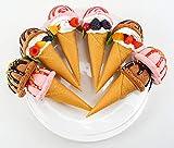 WLDOCA Pretend Play Yummy Ice Cream Set Pretend Play Speisen, Kuchen und Desserts Treat, Realistisch EIS Spielzeug, Artificial Ice Cream ideal für die Kinder zum Geburtstag und Täuschen Partei