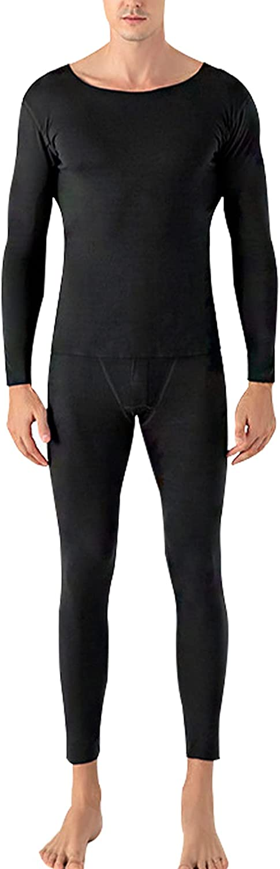 Yimoon Men's Soft Thermal Baselayers 2 Piece Fleece Lined Underwear Set