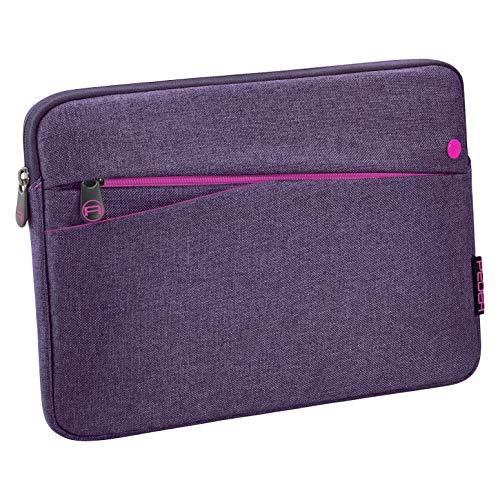 Pedea Tablet PC Tasche Fashion für 10,1-11 Zoll (25,6-27,96 cm) Schutzhülle Etui Hülle mit Zubehörfach, lila