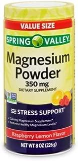 Spring Valley Magnesium Stress Support Powder Raspberry Lemon, 350mg, 8 oz