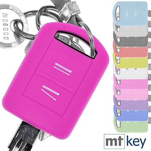 Soft Case Silikon Schutz Hülle Auto Schlüssel Pink kompatibel mit Opel Combo C Corsa C Meriva A Tigra TwinTop