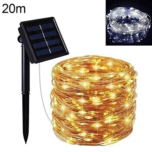 TankMR LED Solari 8 modi kerstverlichting waterdicht, batterij-aangedreven lichten Firefly A LED voor de binnendecoratie van open haarden in de open lucht 20M Wit