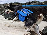 ThinkPet Outdoor Dog Backpack Reflective Saddle Bag - Dog Pack Double Bag for Hound Travel Rucksack for Small Medium Dogs (Blue,M)