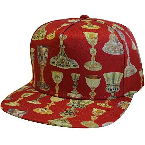 Crooks & Castles Holy Grail Snapback Cap Red