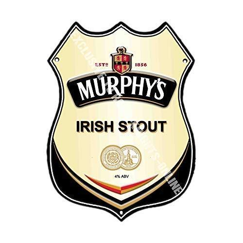 Murphys Irisch Stout Werbe Bar, Alte Pub Drink Pumpe Abzeichen Brewery Fass Fass Fassbier Pint Alkohol Form Metall/Stahl Wandschild - 27 x 20 cm