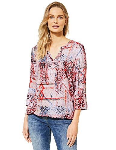 Cecil Damen 342250 3/4-Arm Muster Bluse, Light Alabaster White, XX-Large