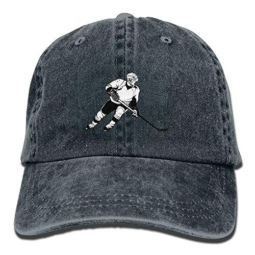 Hoswee Hombres Mujer Gorra Beisbol,Snapback Sombreros Children Hockey Plain Adjustable Cowboy Cap Denim Hat for Women and Men