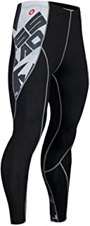 Compression Pants for Men,Workout Pants Elasticity Quick Drying Sports Tights Leggings Training Pants for Running Basketball Football Jogging,D,S