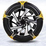 LXGANG Cadenas 3PCS / 5PCS / Set de vagones de nieve se abrieron cadena de neumáticos de nieve for las disoluciones de los neumáticos de invierno Auto Coche Ruedas antideslizante Autocross aire libre