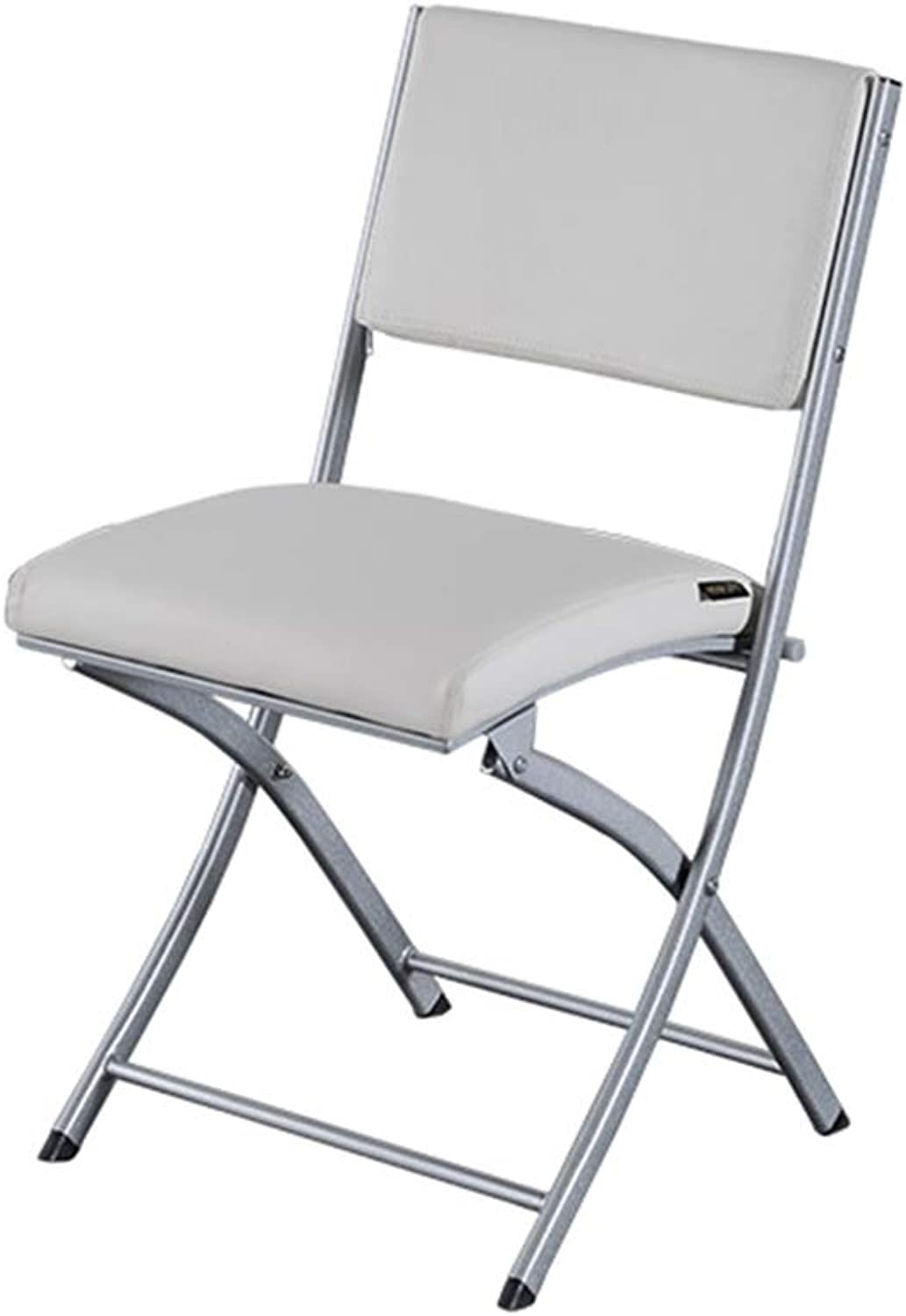 HPLL Folding Chair, Metal Folding Cipri Chair - Strong Steel Event Hall Seat fr Temporary Seat for Guests and Desk Kitchen Folding Chair (color   E, Size   49X43X82cm)