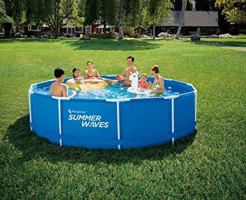 Summer Waves Rahmenpool Frame Pool 366x91cm Swimming Pool Familien Schwimmbad mit Filterpumpe