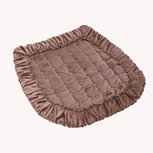 Coussin KKY-Enter Marron Couleur Unie Coton Doux Confortable Respirant Fesses Étanche à la poussière Antibactérien Bande Fixe Tapis de Chaise Rigide Tapis de Chaise Épaisseur: 0.4cm Taille: 40 * 40cm