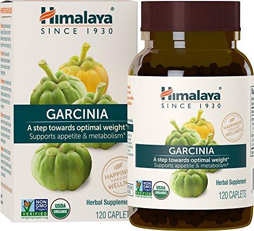 Himalaya Organic Garcinia Cambogia, Equivalent to 2,312mg Garcinia Powder 120 Caplets for Weight Loss, 2 Month Supply