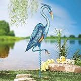 MSR Blue Heron Crane Metal Garden Stake