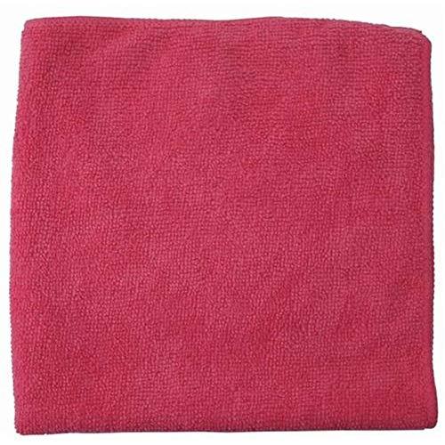 Wisch-Star 30x Premium Mikrofasertuch, quadratisches Frottee Reinigungstuch 40x40 in Rot