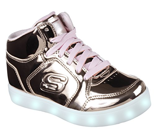 Skechers Energy Lights, Zapatillas para Niñas, Rosa (Rose Gold), 37 EU