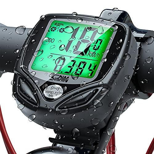 UNEEDE Bicicleta de Código de Tabla, 16 Características potentes Impermeable Computadora de Velocímetro Bicicleta con Pantalla LCD de Retroiluminación para Ciclismo Speed Track Distancia