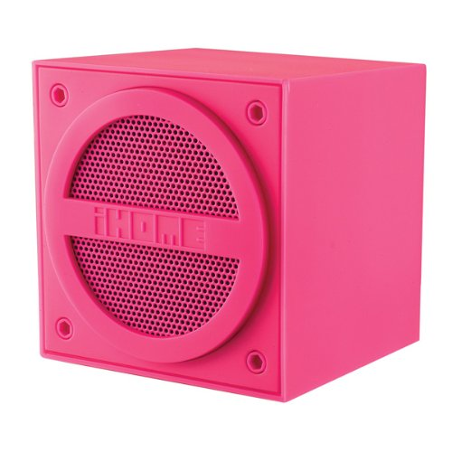 iHome Mini Cube - Altavoz bluetooth recargable, rosa