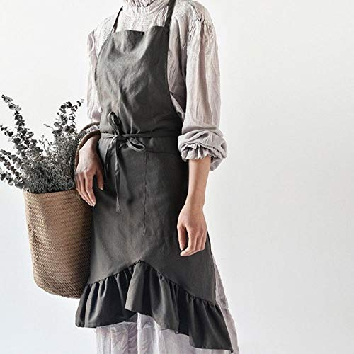 Erfhj Coffee Shop wasbaar keukenschort voor dames Flower Shop Kittel blouse slabbetje Pinafore Custom