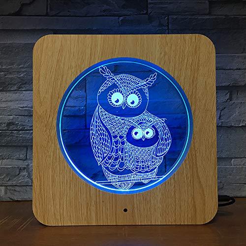 Luz Visual Del Búho Nueva Luz De Noche Led Personalizada Marco De Luz Animal