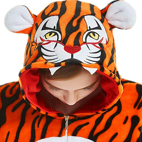 iSZEYU Adult Onesie Tiger Pajamas for Women Girls Tigre Onsie Pijama Pj M Yellow
