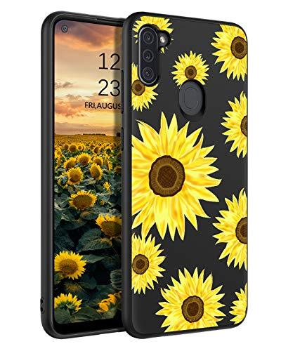 BENTOBEN Samsung Galaxy A11 Case, Slim Fit Glow in The Dark Soft Flexible Bumper Protective Shockproof Anti Scratch Non-Slip Cute Phone Cases for Samsung Galaxy A11 6.4' (2020), Sunflower Design