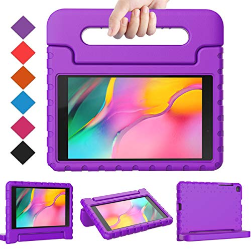 BMOUO Kids Case for Samsung Galaxy Tab A 8.0 2019 SM-T290/T295, Galaxy Tab A 8.0 Case 2019, Shockproof Light Weight Protective Handle Stand Case for Galaxy Tab A 8.0 Inch 2019 Without S Pen - Purple